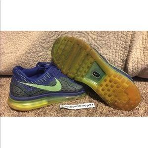 Nike Air Max 2014 Royal Blue Mesh Running Shoes